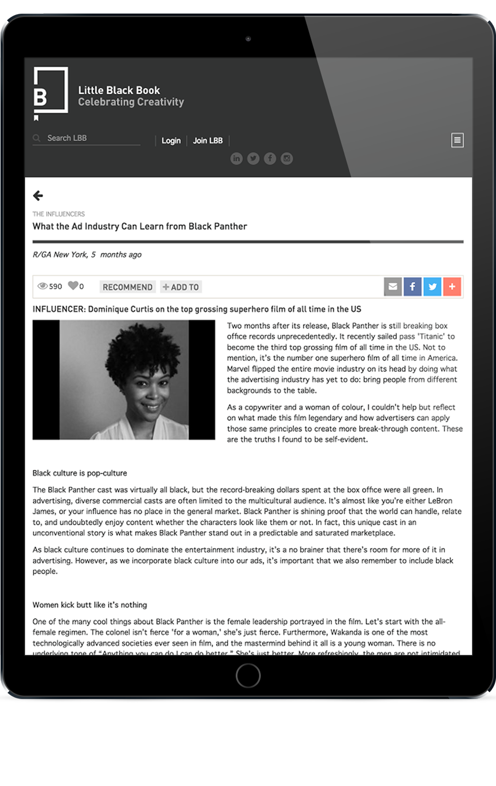 LBB News on iPhone